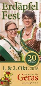 Titelseite Folder Erdäpfelfest 2016